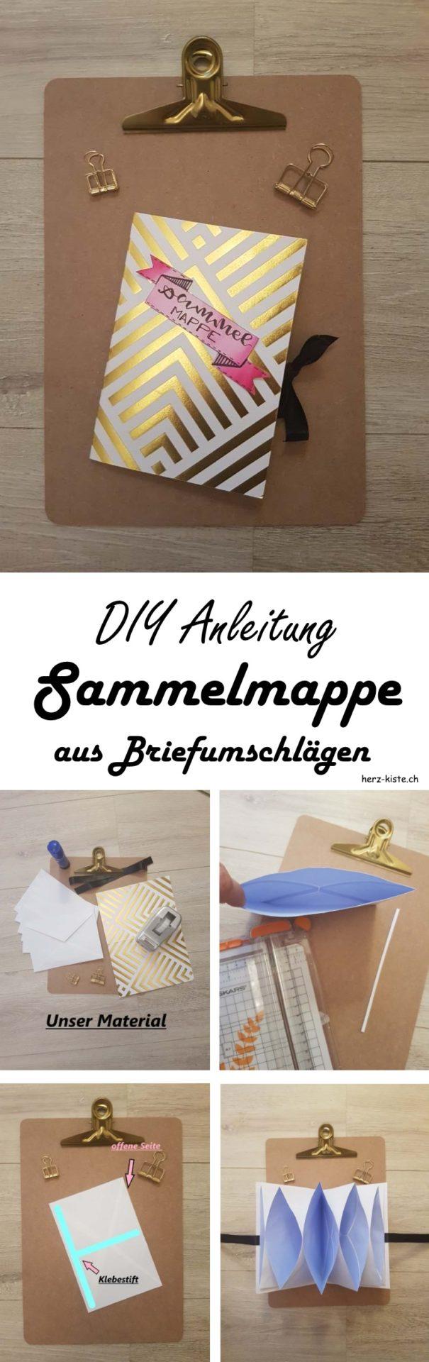 DIY Anleitung: Schritt für Schritt zur selbstgemachten Sammelmappe aus Briefumschlägen