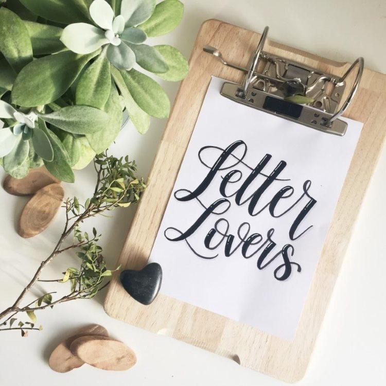 Letter Lovers - ein einfaches Klemmbrett selbermachen aus aktenordner