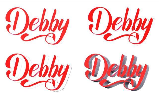Debby - einfache Anleitung für 3D Buchstaben