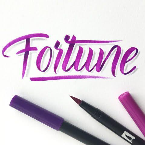 Fortune - Handlettering mit Schatten