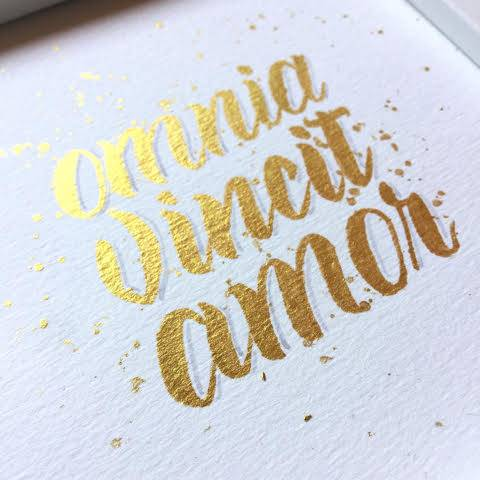 Handlettering in Gold