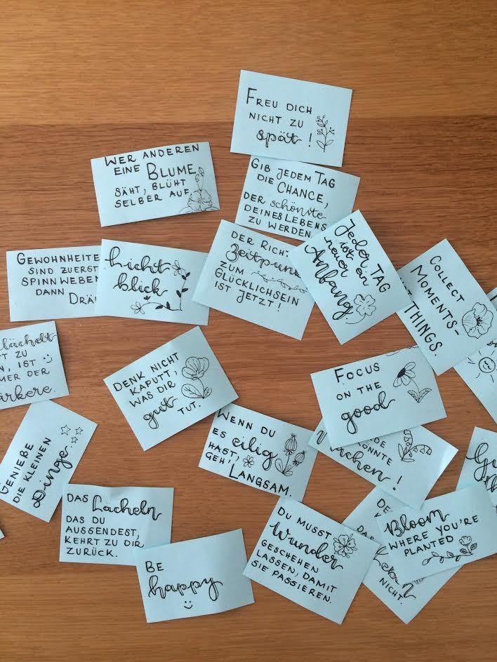 Sprüche für selbstgemachte Glückskekse mit Handlettering