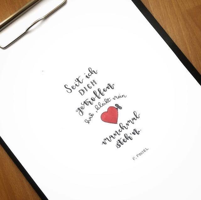 romantischer Lettering Spruch