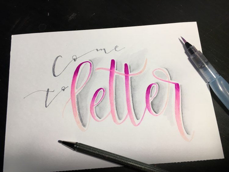 come to letter - Handlettering