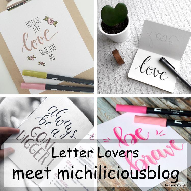 Collage mehrerer Letterings von michiliciousblog