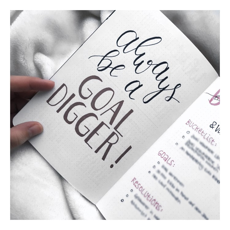 Handlettering: always be a goal digger
