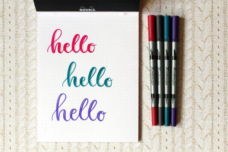verschiedene Möglichkeiten wie du deinem Lettering einen Schatten hinzufügen kannst