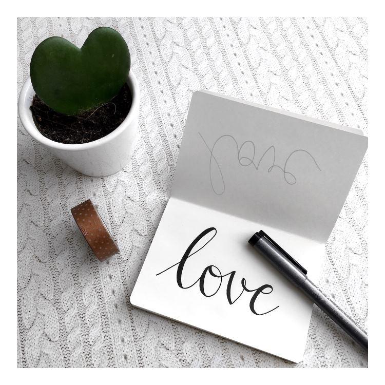 love - einfaches Handlettering