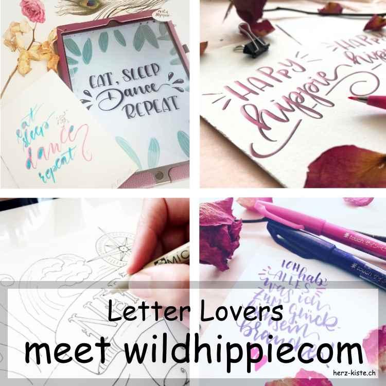 Komposition aus verschiedenen Letterings von wildhippiecom als Titelbild für einen Blogbeitrag