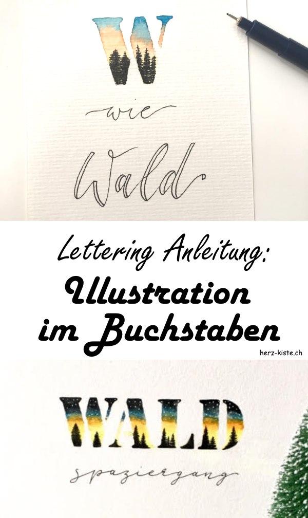 Einfache Lettering Anleitung: So gestaltest du eine Illustration in einem Buchstaben und erschaffst ein einzigartiges Handlettering mit einem Wow-Effekt