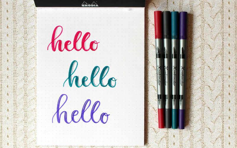 drei verschiedene Möglichkeiten wie du deinem Lettering einen Schatten hinzufügen kannst