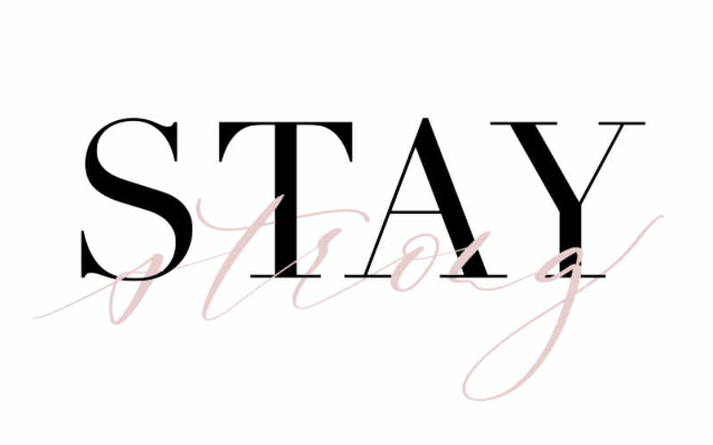 stay strong - digitales Handlettering