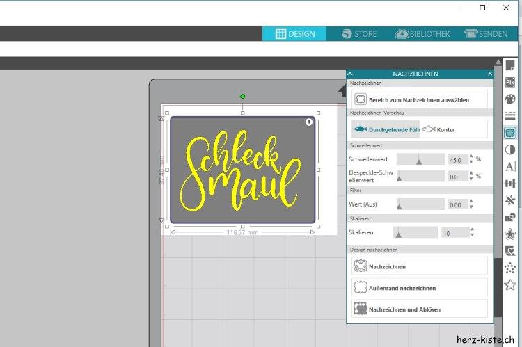 Schleckmaul - Handlettering digitalisieren und im Plotterpgoramm vorbereiten