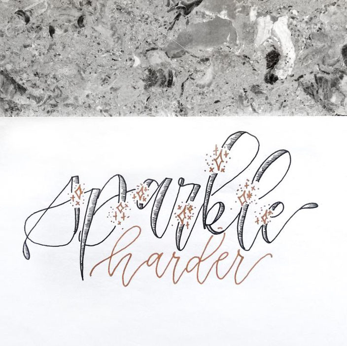 Handlettering - sparkle harder