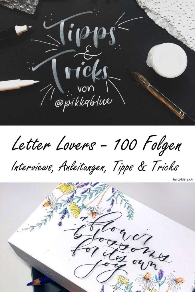 Letter Lovers: Die Jubiläumsfolge! Lerne und lese in über 100 Interviews alles was du zum Lettering wissen musst! Die Letter Lovers sind eine Interviewserie mit unzähligen Anleitungen, Tipps