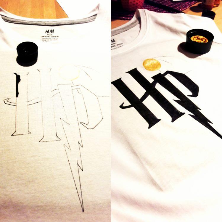 hp - Lettering auf einem T-Shirt
