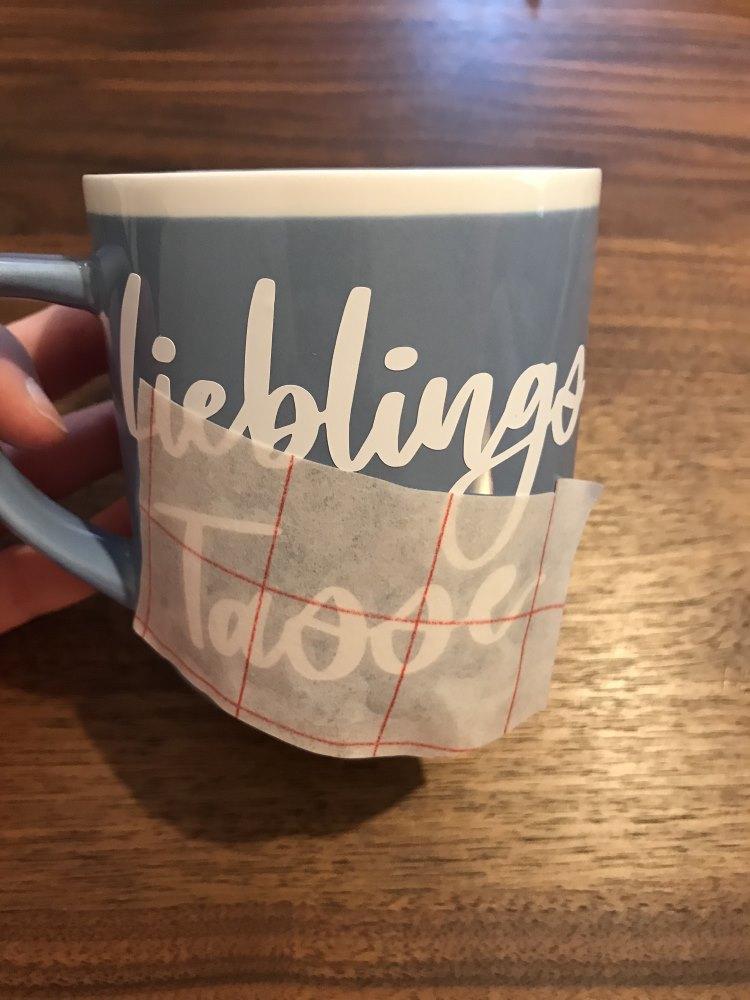 Lieblings Tasse - Handlettering auf eine Tasse plotten