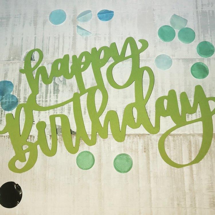 Happy Birthday - Handlettering