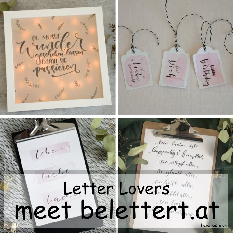 Letterings in einer Collage von belettert.at