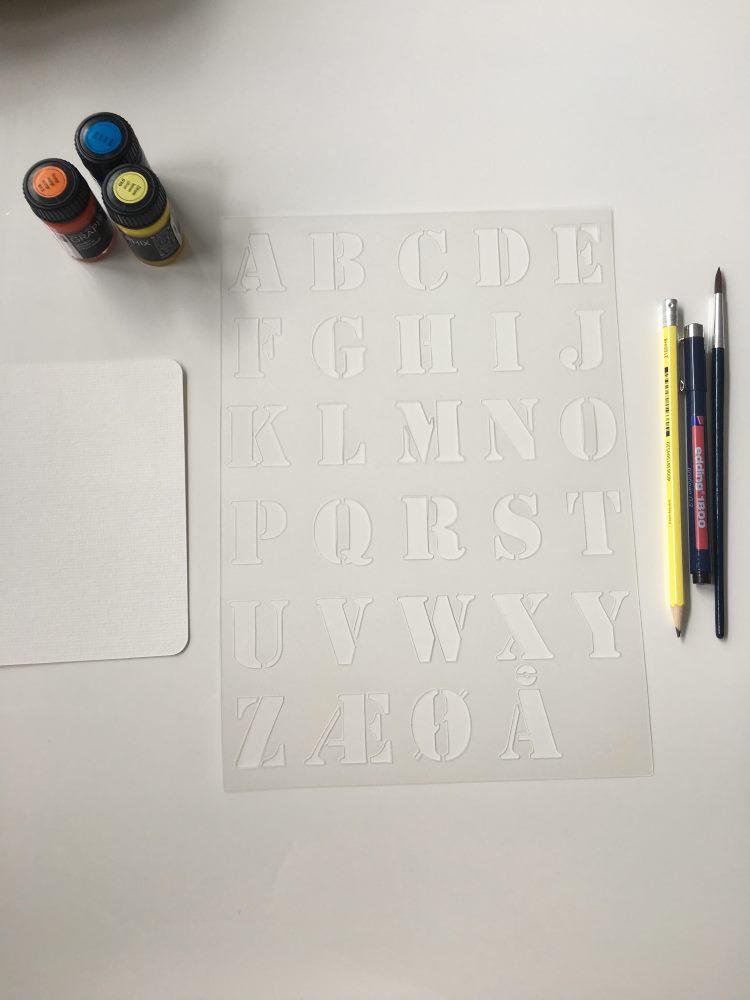 Material Buchstabenschablone