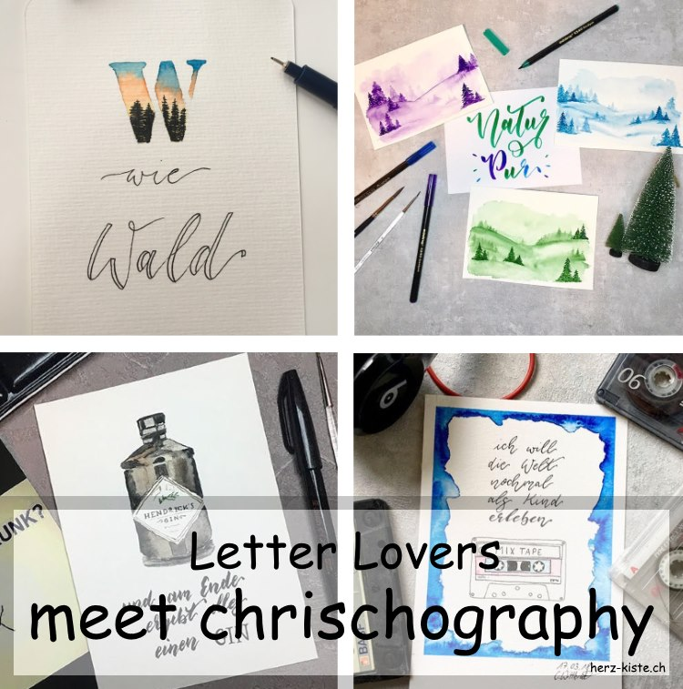 Verschiedene Letterings von chrischography als Collage - Titelbild zum Blogbeitrag Letter Lovers Interview