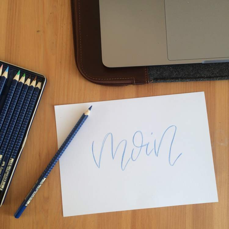moin - Handlettering in Monoline als Vorbereitung