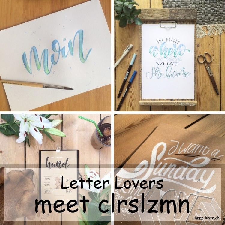 Bilder von clrslzmn die zu Gast ist im Lettering Interview bei den Letter Lovers