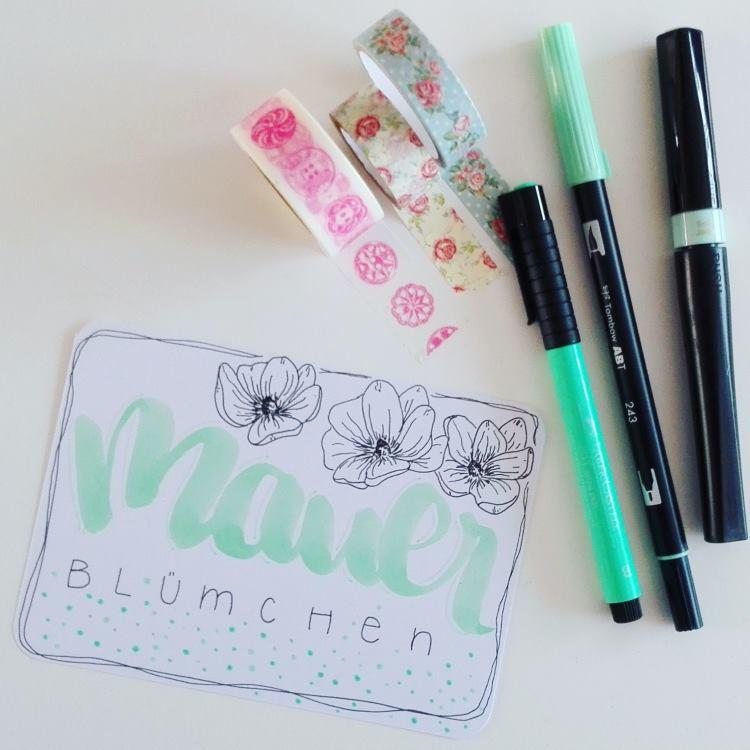 Handlettering mit Blumen: Mauerblümchen