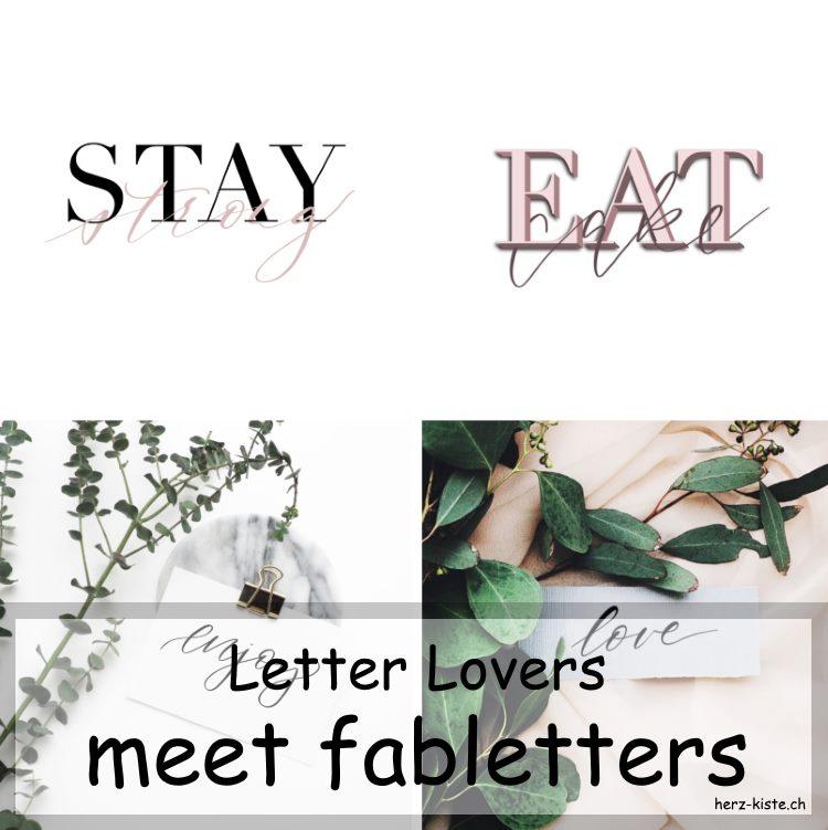 verschiedene Letterings als Collage von fabletters