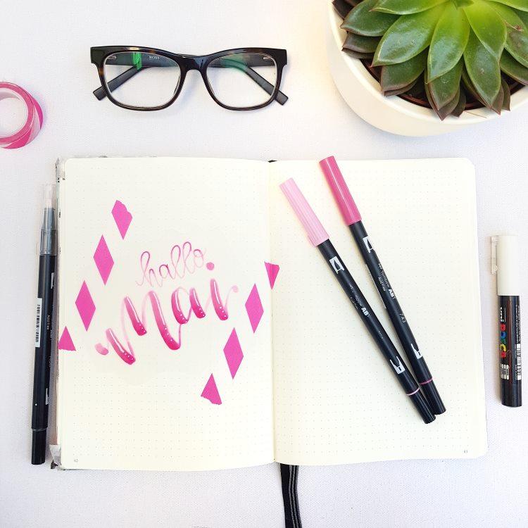 hallo Mai - pinkes Handlettering