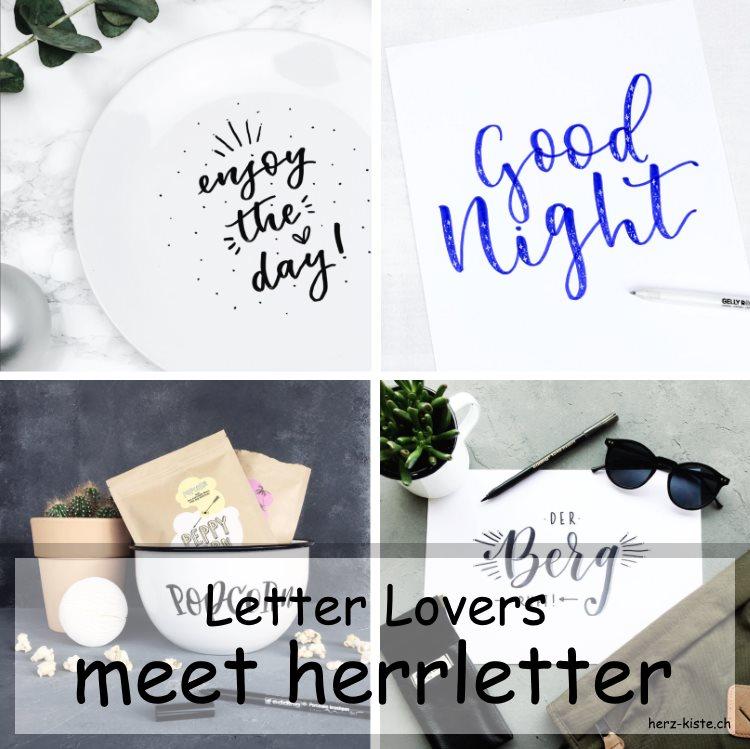Bilder Collage von Letterings von herrletter für die Letter Lovers