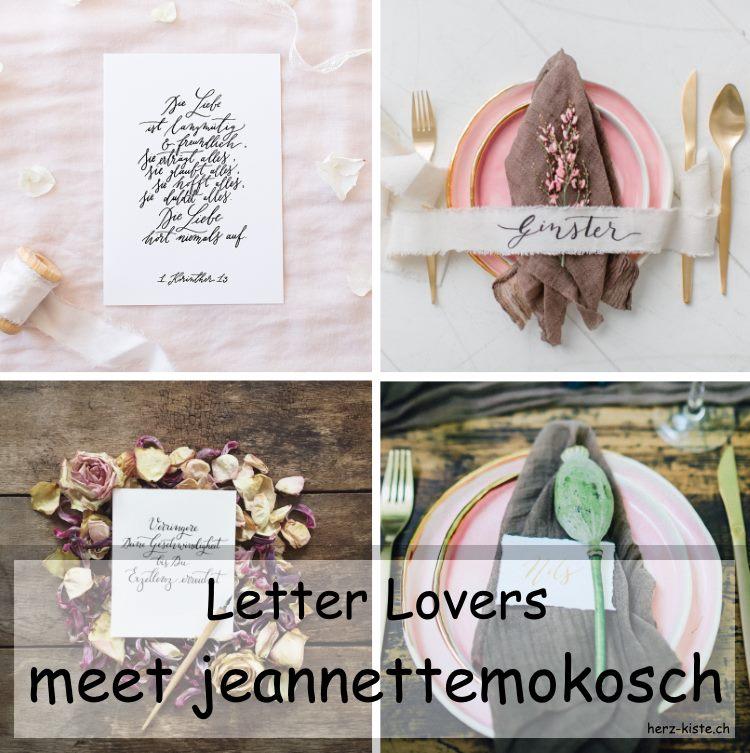 Collage mit Lettering Bildern von jeannettemokosch