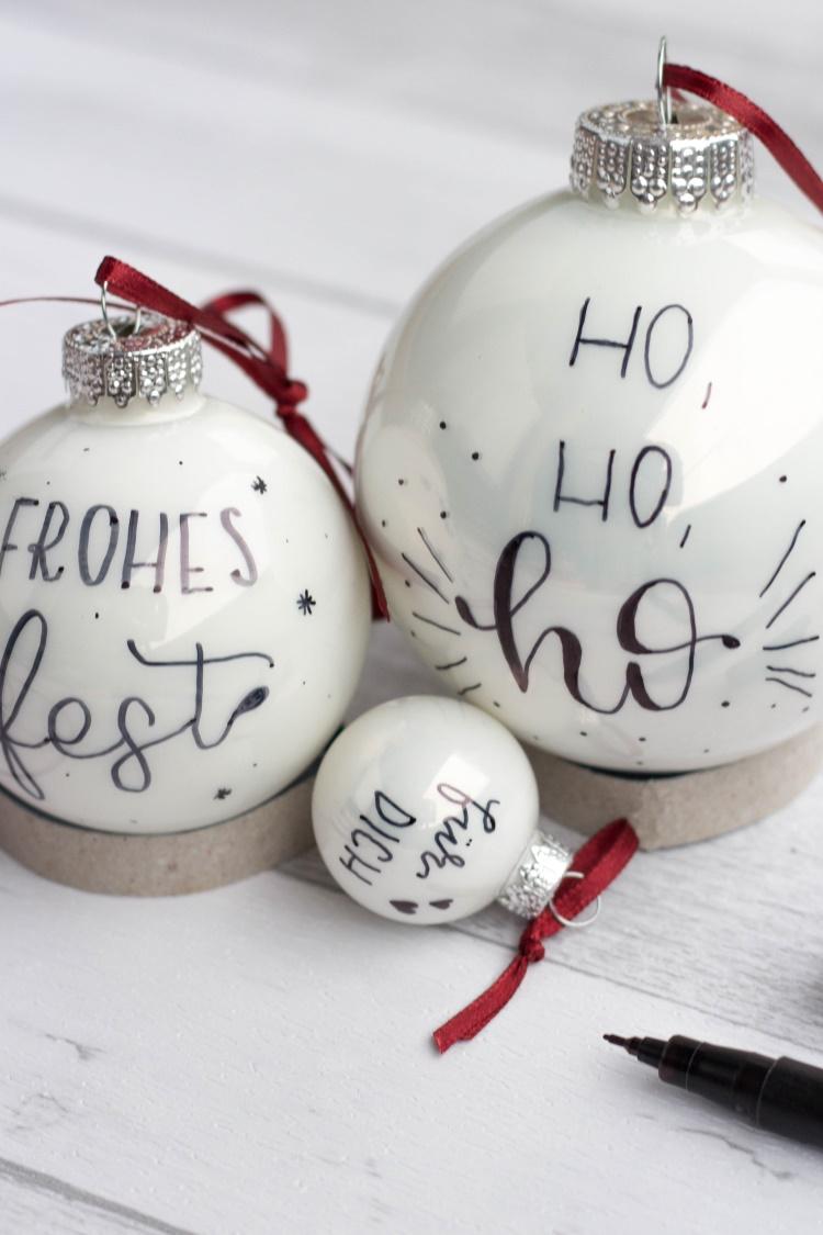 Weihnachtskugeln belettern - einfache Anleitung für individuelle Weihnachtsdeko