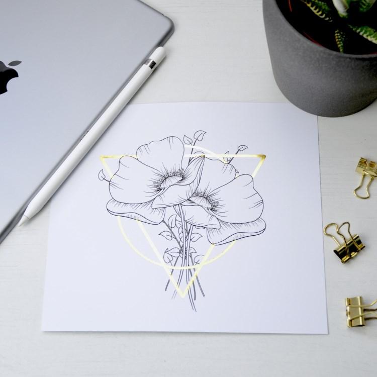 Line drawing - Lettering folieren