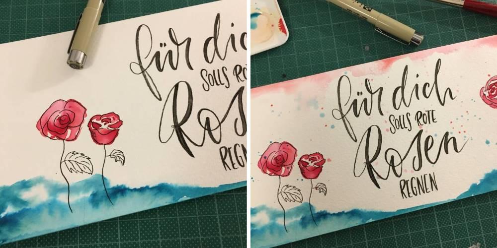 für dich solls rote Rosen regnen - Detailaufnahme