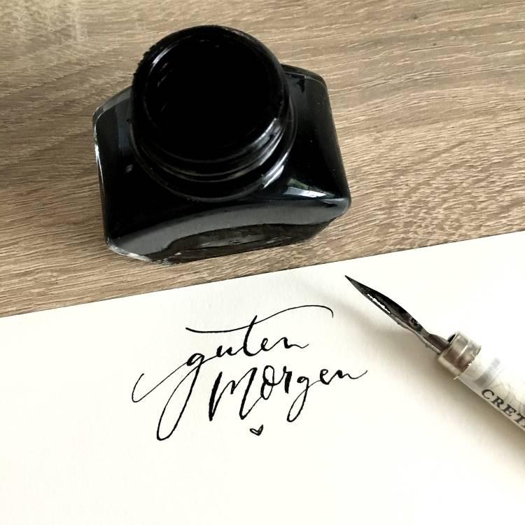 guten Morgen - Kalligrafie