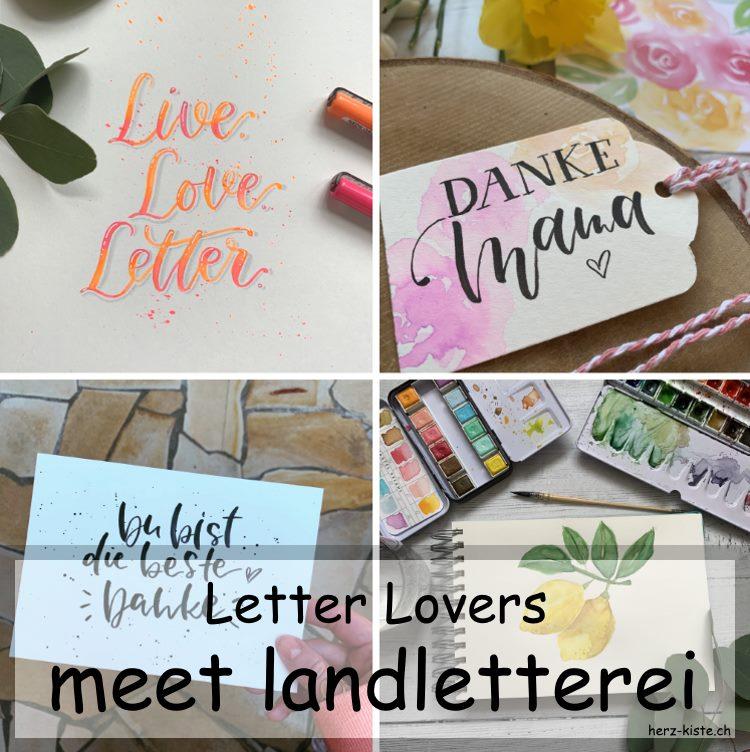 Letter Lovers: Landletterei zu Gast im Lettering Interview mit einer Anleitung für ein Blending in Neon-Farben
