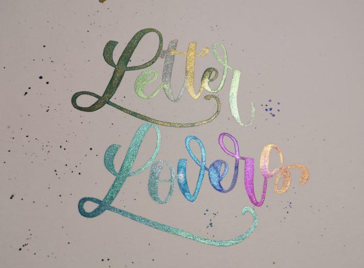 Letter Lovers: Watercolor Lettering mit Farbverlauf