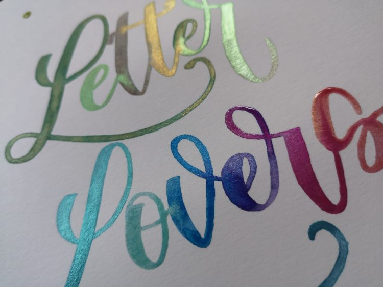 Letter Lovers - buntes Lettering mit Wasserfarben