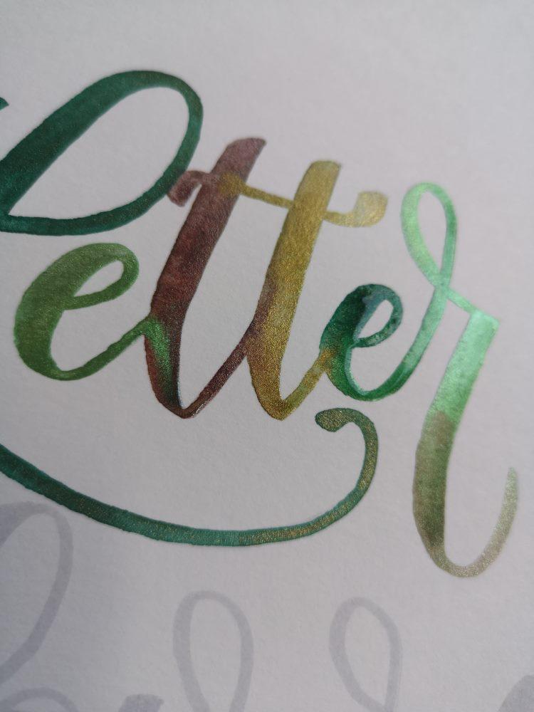 Detailansicht letter - Watercolor Lettering