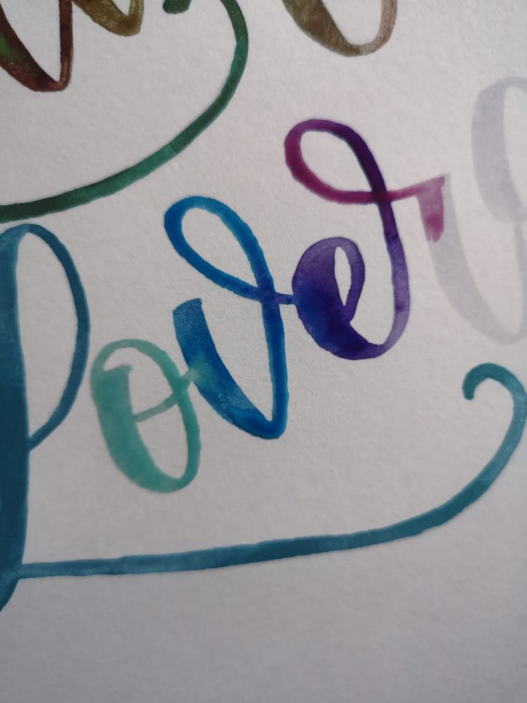 Detailansicht Watercolor Lettering