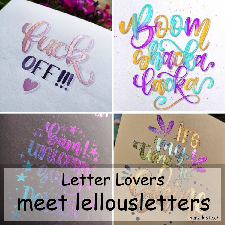 lellousletters im Interview bei den Letter Lovers - Titelbild mit verschiedenen Letterings