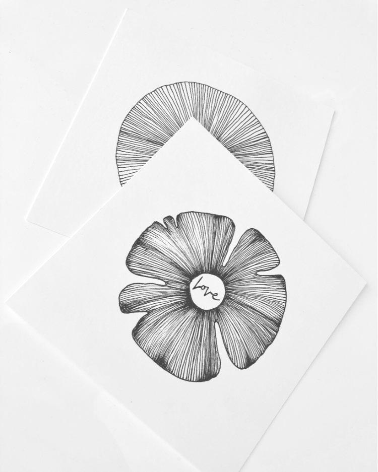 Blumen in schwarz weiss