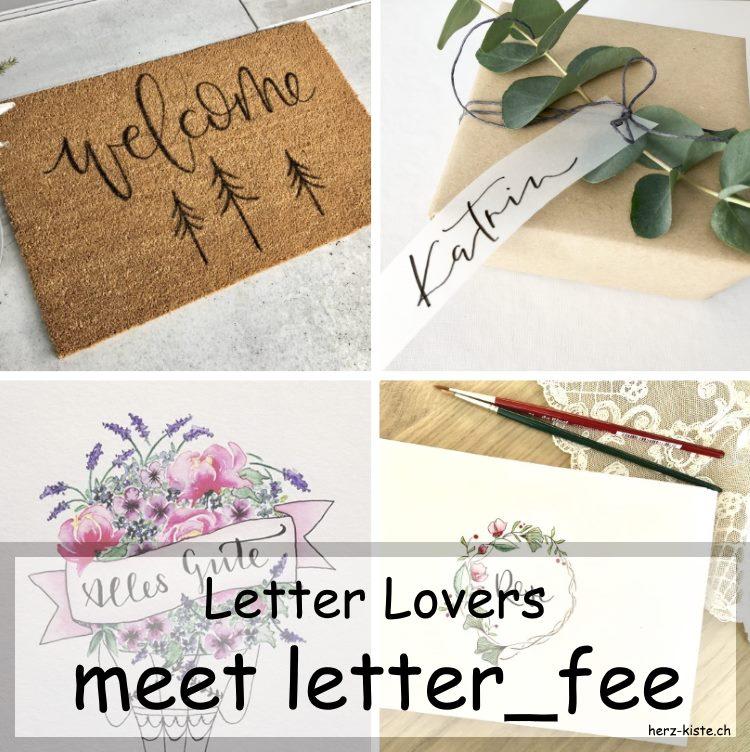 letter_fee zu Gast im Lettering Interview mit einer Anleitung um eine Fussmatte zu belettern und verschiedenen Lettering Werken