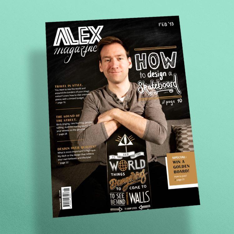 ein eigenes Layout gestalten mit Handlettering - Alex magazine