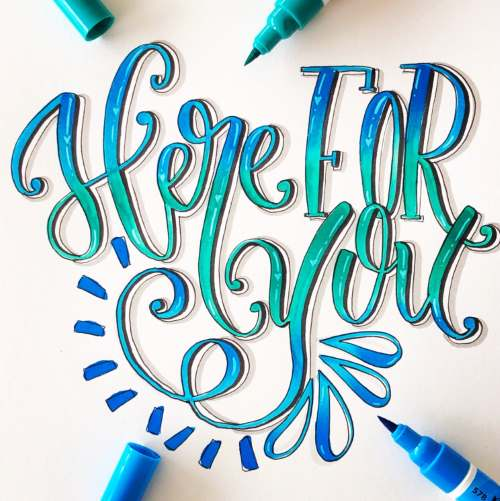 Lettering Bild: here for you