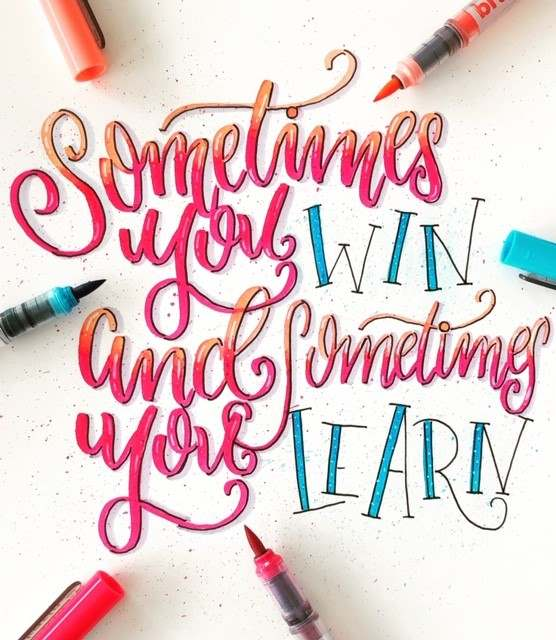Handlettering: Sometimes you win and sometimes you learn