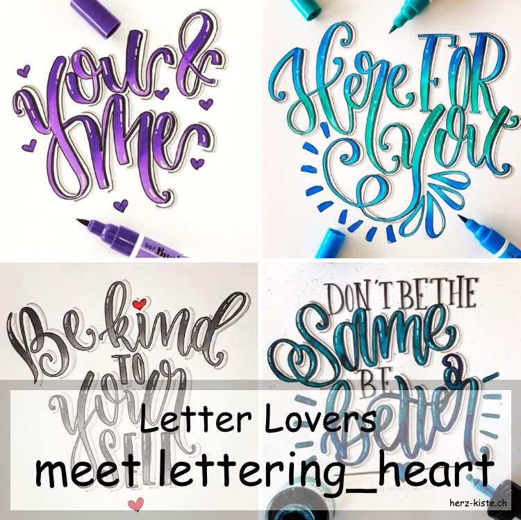 Letter Lovers - lettering_heart zu Gast im Lettering Interview mit einer Anleitung für eine einfache und schnelle Geburtstagskarte