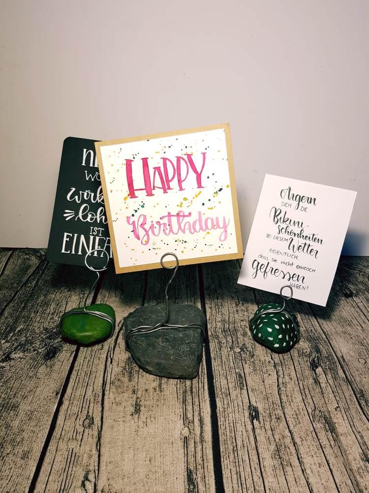 DIY Lettering Halter - um deine Letterings wunderbar in Szene zu setzen