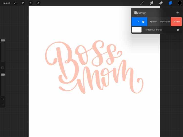 Schritt 1 für ein digitales 3D Lettering mit Procreate auf dem iPad